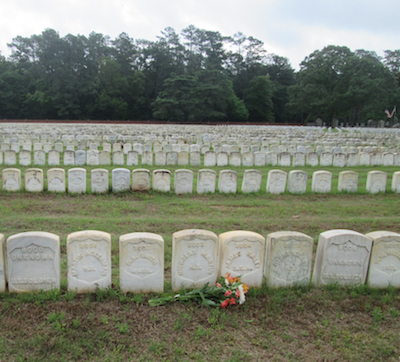 Ancestor's grave at Andersonville National Cemetery